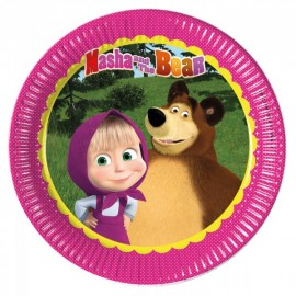 Poze Farfurii party 23 cm Masha and the Bear