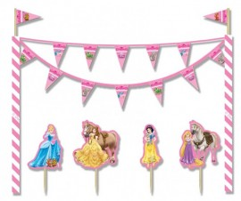 Poze Kit decor tort Princess & Animals