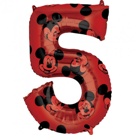 Poze Balon cifra 5 Mickey Mouse