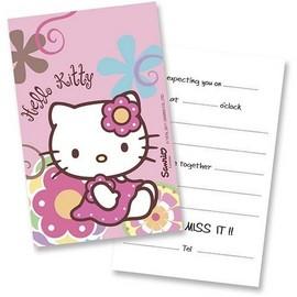 Poze Invitatii party Hello Kitty Bamboo