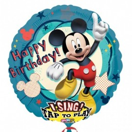 Poze Folie jumbo muzicala Happy Birthday Mickey Mouse