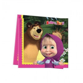 Poze Servetele party Masha and the Bear