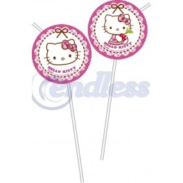 Set 6 paie cu medalion Hello Kitty Hearts