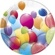 Poze Farfurii party Flying Balloons 23 cm