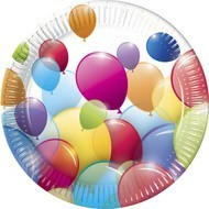 Poze Farfurii party Flying Balloons 20 cm