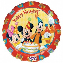 Poze Balon folie 45 cm Mickey and friends Happy Birthday