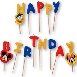 Poze Lumanari tort litere Mickey Mouse