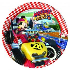 Poze Farfurii 23 cm Mickey si Pilotii de Curse
