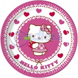 Poze Farfurii Hello Kitty Hearts 20 cm