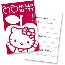 Poze Invitatii party Hello Kitty Apple