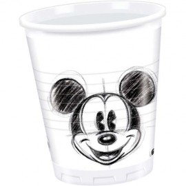 Poze Pahare party Mickey Faces - 25 buc