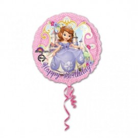 Poze Balon folie 45 cm Sofia I Happy Birhday