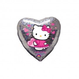 Poze Balon Hello Kitty - Hearts
