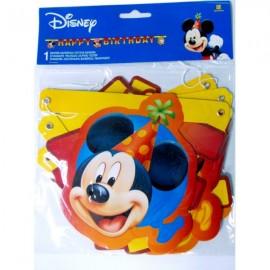 Poze Banner litere Happy Birthday Mickey Balloons