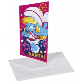 Poze Invitatii party Smurfette