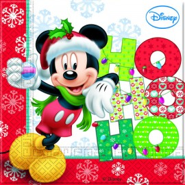 Poze Servetele party Mickey Xmas