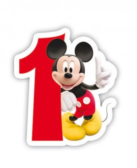 Poze Lumanare party cifra 1 Mickey Mouse