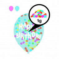 Baloane cu confetti multicolore