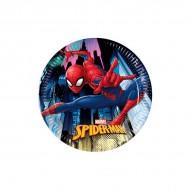 Farfurii tort Spiderman Team Up
