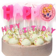 "Lumanari litere ""Happy Birthday"" Printesele Disney"