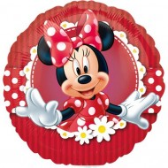 Balon mini folie Minnie Mouse - 23cm + bat si rozeta