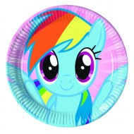 Farfurii 23 cm Little Pony Rainbow