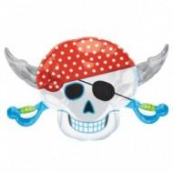 Balon Folie Craniu Pirati