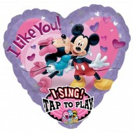 Balon muzical Mickey Minnie imens