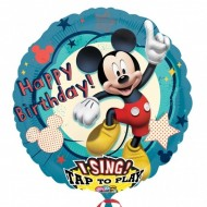Folie jumbo muzicala Happy Birthday Mickey Mouse