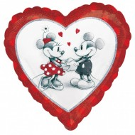Balon inima Mickey Minnie