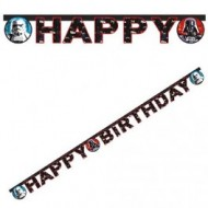 Banner litere Happy Birthday Star Wars