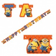 Banner litere Happy Birthday Minions