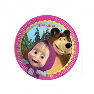 Farfurii party 20 cm Masha and the Bear