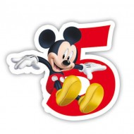 Lumanare party cifra 5 Mickey Mouse