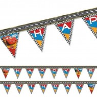 Banner stegulete Happy Birthday Cars RSN