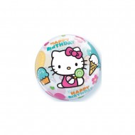 "Balon Bubble 22"" Happy Birthday Hello Kitty"