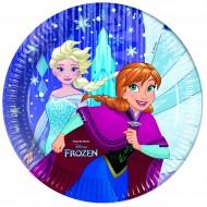 Farfurii 23 cm Frozen Snowflakes