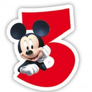 Lumanare  cifra 3 Mickey Mouse