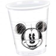Pahare Mickey Mouse alb negru