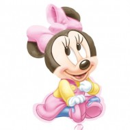 Balon folie figurina Minnie Mouse Baby Girl