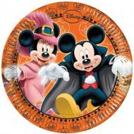 Farfurii tort Halloween Mickey