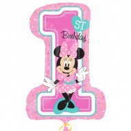 Balon cifra 1 Minnie