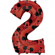 Balon cifra 2 Mickey Mouse