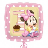 Balon folie 45 cm patrat Minnie Baby Girl