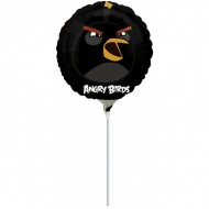 Balon mini folie Black Bird - Angry Birds