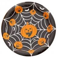 Farfurii Halloween dovleac