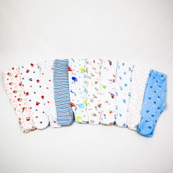 Multipack Pantaloni Botos 10 Bucati Cu imprimeuri 0-12 Luni
