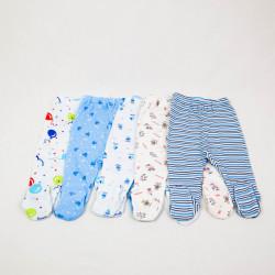 Multipack Pantaloni Botos 5 Bucati Cu Imprimeuri 0-12 Luni