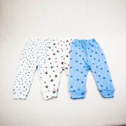 Multipack Pantaloni cu Manseta 3 Bucati Cu Imprimeuri 0-18 Luni