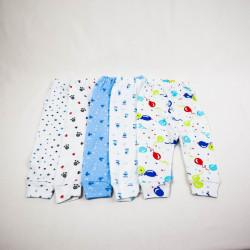 Multipack Pantaloni cu Manseta 5 Bucati Cu Imprimeuri 0-12 Luni